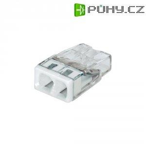 Svorka Wago, 2273-202, 0,5 - 2,5 mm², 2pólová, transparentní/bílá, 10 kusů