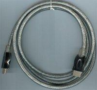 Kabel HDMI(A)-HDMI(A) 1,5m, opletený kabel 7mm, DOPRODEJ