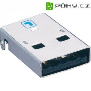 USB konektor 2.0 vestavný do DPS Lumberg 2410 08, zástrčka Typ A