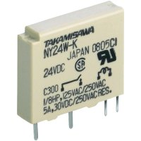 Úzké miniaturní relé série NY Takamisawa NY-05W-K-IE, 5 A 125 V/DC/270 V/AC 750 VA/90 W