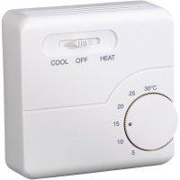 Nástěnný termostat s denním časovačem, 5 až 30 °C, světle šedá