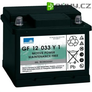 Gelový akumulátor, 12 V/32,5 Ah, Exide Sonnenschein GF-Y-1 8889763000