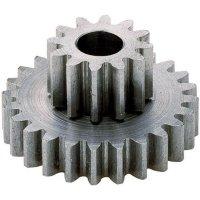 Dvojié ozubené kolo Modelcraft, 15/60 zubů, M1, otvor 6 mm