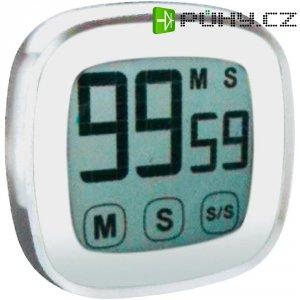 Digitální časovač s dotykovým displejem KT 400 Techno Line, 76 x 76 x 25 mm