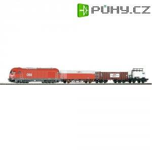Startovací sada H0 nákladního vlaku Metronom a dieslovky Piko 96948