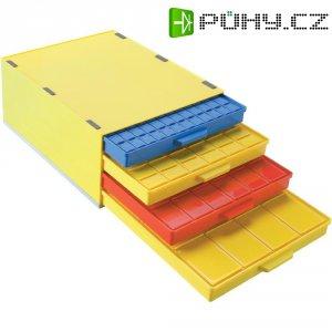 Box pro SMD součástky se 4 přihrádkami Licefa, A1-4/4 DISS Mix, žlutá