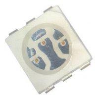 LED SMD 5050 RGB 0,7/ 1,4/ 0,4Cd /20mA 120°
