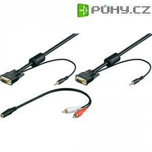 VGA, Cinch kabel, zástrčka/jack konektor 3,5 mm, černý, 5 m
