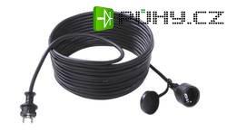 Prodlužovací kabel s ochrannou přímou zástrčkou Bachmann Electric, 10 m, černá