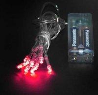 Vánoční osvětlení 10 x LED - červená barva