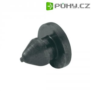 Tlumicí přístrojová nožička se západkou PB Fastener 1308-01, (Ø x v) 9 mm x 8.6 mm, černá, 1 ks