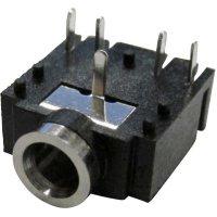 Jack konektor 3,5 mm stereo 5pól. Cliff FC68133, zásuvka vestavná horizontální, 5pól., černá
