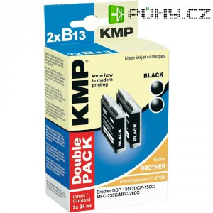 Cartridge KMP Brother LC-970 = 2x B13D, 1060,0021, černá