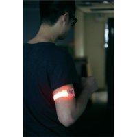 Bezpečnostní LED svítidlo Meteor s upevňovacím páskem na ruku, červená