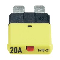 Automatická plochá pojistka CE1610-21-20A, 20 A, žlutá