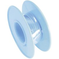Vinutý drát 93014c385, 1x 0,01 mm², Ø 0,25 mm, 15 m, modrá