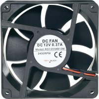 Voděodolný axiální ventilátor, RD12038B24H, 24 V, 44,6 dBA, 120 x 120 x 38 mm