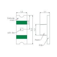 IR SMD emitor Harvatek, HT-260IRPJ, 850 nm, (d x š x v) 3.2 x 1.2 x 1.1 mm, 140 °