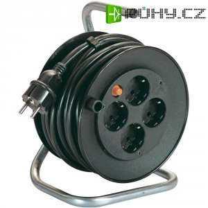 Kabelový buben AS Schwabe, 10180, 4 zásuvky, 15 m, černá