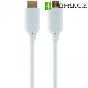 HDMI Belkin High Speed kabel s ethernetem, zlaté kontakty, 2 m, bílý