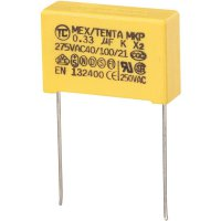 Foliový kondenzátor MKP, 0,33 µF, X2 275 V/AC, 10 %, 26,5 x 8,5 x 17 mm