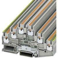 Svorka Push in Phoenix Contact PIT 2,5-PE/L/L (3210541), 3násobná, 5,2 mm, šedá