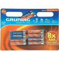 Sada alkalických baterií, 8ks Grundig AAA,950mAh