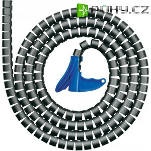 Organizér kabelů, HellermannTyton HWPP-25MM-PP-SR-K1, 2 m