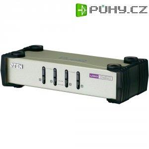 KVM switch Aten pro USB a PS/2 a VGA-Grafik, 4-portový