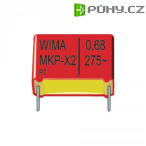 Kondenzátor odrušovací X2 Wima, 0,22 µF, 275 V/AC, 20 %, 18 x 8 x 15 mm
