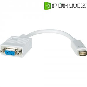 Mini DVI/VGA kabel s adaptérem, bílá 0,2 m