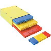 SMD box se 3 přihrádkami Licefa A1-4 DISS 16, vodivý, žlutá