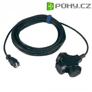 Prodlužovací kabel se závěsnou spojkou Sirox, 5 m, 3 zásuvky, černá
