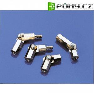 Kloubový čep - závit M3 vnitřní/vnitřní, otvor klíče 5,5 mm