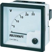 Analogové panelové měřidlo VOLTCRAFT V-72x72/25V 25 V