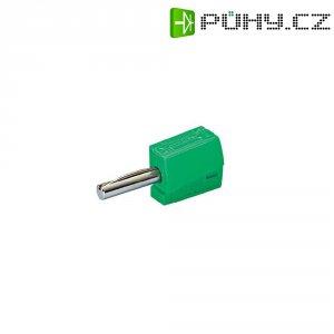 Banánkový konektor zástrčka, rovná Ø pin: 4 mm zelená WAGO 215-411 1 ks