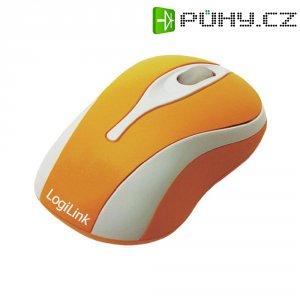 USB myš optická LogiLink ID0023, s podsvícením, oranžová