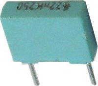 22n/250V Siemens, svitkový kondenzátor radiální, RM=7,5mm