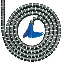 Organizér kabelů, HellermannTyton HWPP-25MM-PP-BK-K1, 2 m