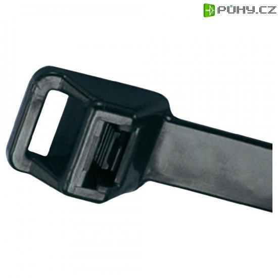 Rozepínací stahovací pásek s očkem Panduit PRT2EH-C0, 229 x 12,7 mm, černá - Kliknutím na obrázek zavřete
