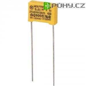 Foliový kondenzátor MKP, 0,01 µF, X2 275 V/AC, 10 %, 13 x 4 x 9 mm