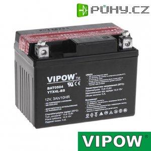 Baterie motocyklová 12V 3Ah Vipow motobaterie