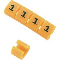 Označovací klip na kabely KSS MB1/2 548026, 2, oranžová, 10 ks