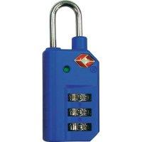 Visací zámek s číselnou kombinací TSA, modrá