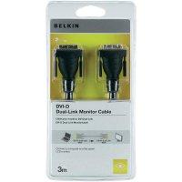 Belkin DVI-D Dualink, připojovací kabel 3 m, černý
