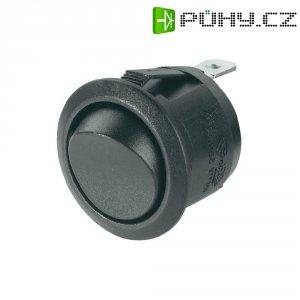 Kolébkový spínač R13-112F B/B, 1x vyp/(zap), 250 V/AC, 6 A, černá