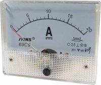 69C9 panelový MP 20A=(50mV) 80x65mm, bez bočníku