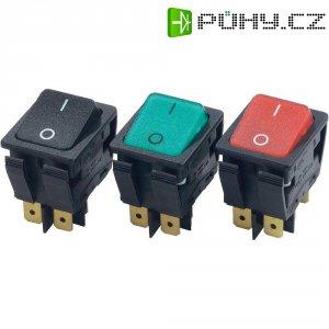 Kolébkový přepínač Arcolectric C6053ALNAH, 2x vyp/zap, 230 V/AC, 16 A, zelená/červená