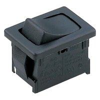 Kolébkový spínač Marquardt 1808.0302, 1x (zap)/vyp/(zap), 250 V/AC, 6 A, černá