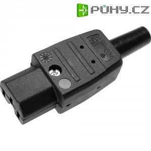Síťová IEC zásuvka C15 Kaiser, 250 V, 10 A, černá, 783/sw
